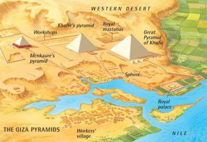 How to get to gyza Pyramyds -  The Map